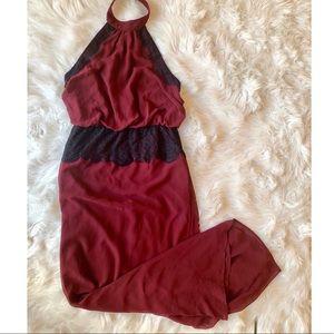 💋Forever 21 Halter Lace Chiffon Maxi Dress💋